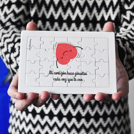 Puzzle cartón 24 piezas Mi corazón hace doble pirueta cuando te veo