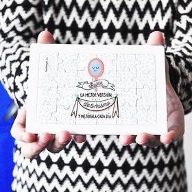Puzzle cartón 24 piezas Busca la mejor versión de ti mismo y mejórala cada día