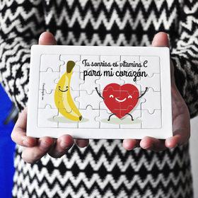 Puzzle cartón 24 piezas Tú sonrisa es vitamina c para mi corazón