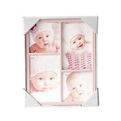 Marco de fotos Petit para 4 fotos (2x 10x10 + 2x 10x15) rosa