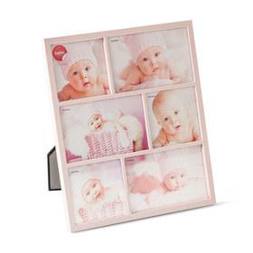 Marco de fotos Petit para 6 fotos (3x 10x10 + 3x 10x15) rosa