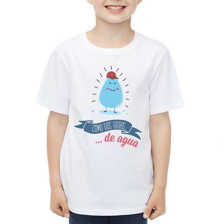 Camiseta original Como dos gotas de agua niño