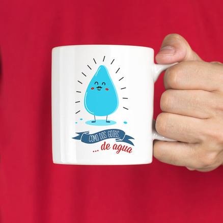 Taza original Como dos gotas de agua padre