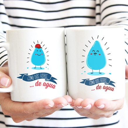 Pack taza original doble Como dos gotas de agua