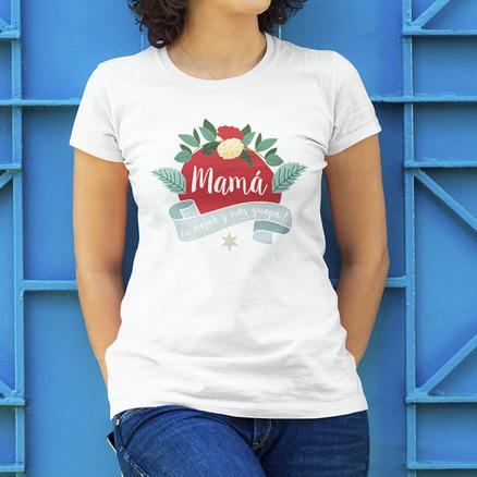 Camiseta Mamá la mejor y más guapa