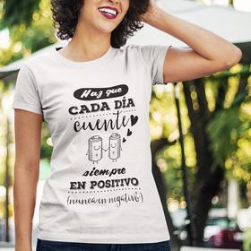 Camiseta original Haz que cada día cuente para mujer