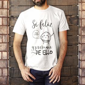 Camiseta original Sé feliz y presume de ello para hombre