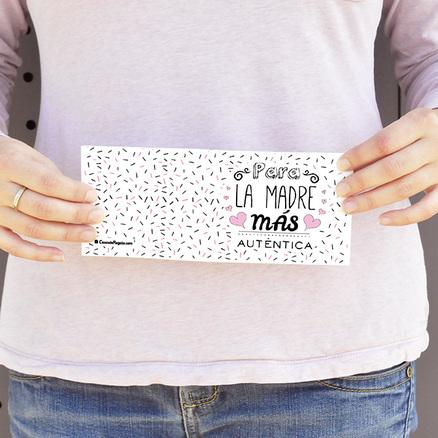 Mighty Wallet blanca personalizada Mamá más auténtica