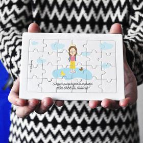Puzzle cartón 24 piezas Si alguien puede lograr lo imposible esa eres tú, mamá
