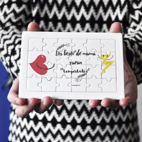 Puzzle cartón 24 piezas Los besos de mamá paran tempestades