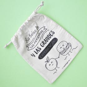 Bolsa mediana con cordón ajustable La bolsa de las meriendas