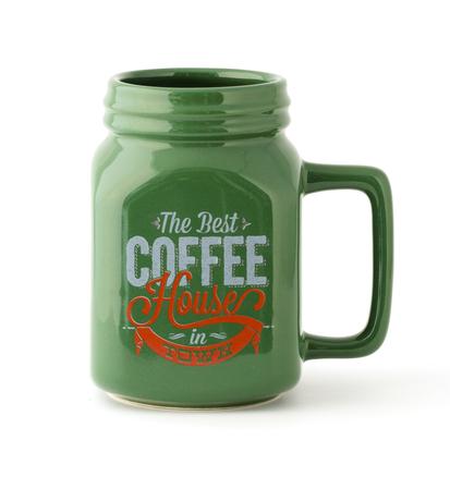 Mug Mason 400 ml verde cerámica