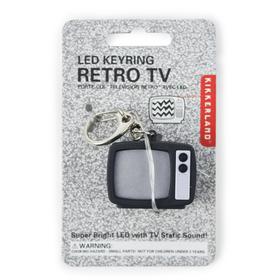 Llavero TV retro con sonido y luz