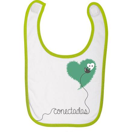 Babero para bebés Conectadas