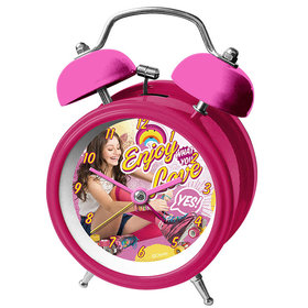 Reloj despertador Soy Luna Enjoy Love campanas metalico