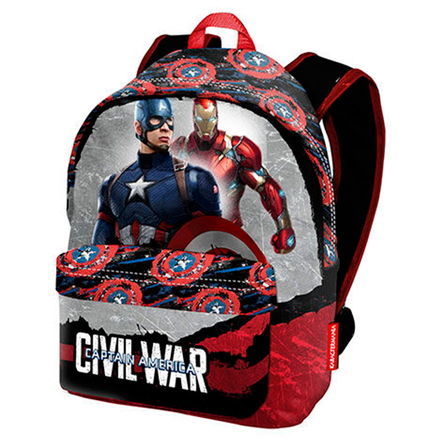 Mochila Capitan America Civil War Marvel 41cm
