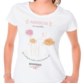Camiseta original Amigos arrimar el hombro para mujer