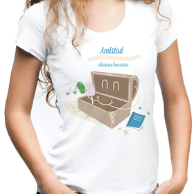Camiseta original Amistad divino tesoro para mujer
