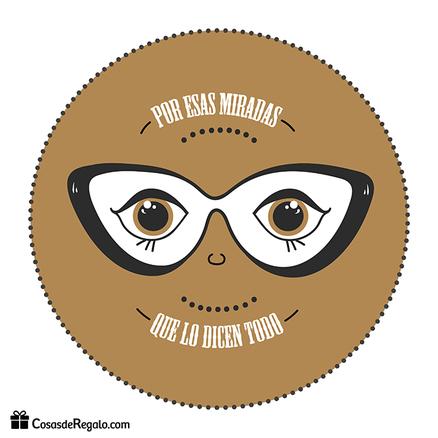 Taza original Por esas miradas que lo dicen todo marrón