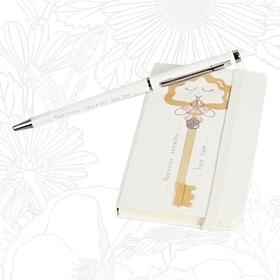 Set de bloc de notas y bolígrafo Nuestros secretos bajo llave
