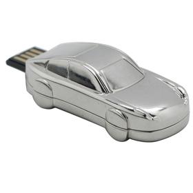 USB 8Gb en forma de coche de acero inoxidable