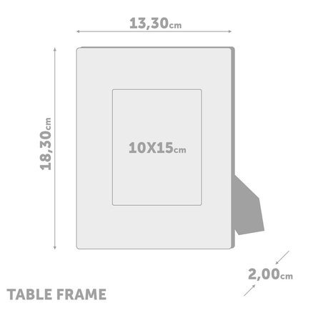 Marco de fotos Classic para 1 foto 10x15 blanco