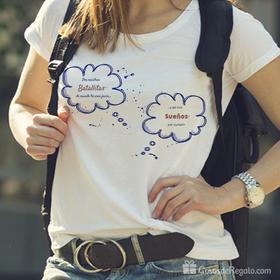 Camiseta original Por nuestras batallitas para mujer