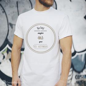 Camiseta original No hay mejor viaje que tus historias para hombre
