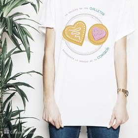 Camiseta original La dulzura de tus galletas para mujer