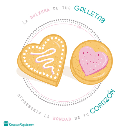 Caja de metal corazón La dulzura de tus galletas