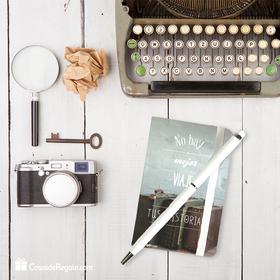 Set de bloc de notas y bolígrafo No hay mejor viaje que tus historias
