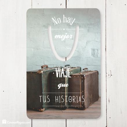 Punto de libro rectangular No hay mejor viaje que tus historias