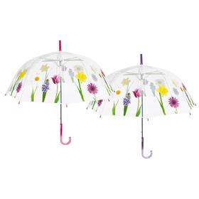 Paraguas automatico transparente Flores POE 61cm
