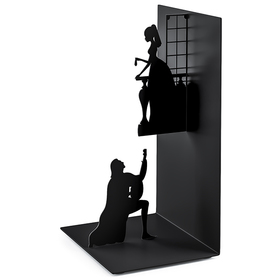 Sujeta libros Romeo & Juliet negro