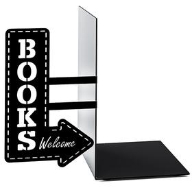 Sujeta libros Bookshop negro