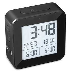 Despertador Vision negro ABS