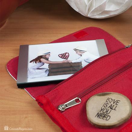 Pack romántico Neceser con marco de foto y revelado