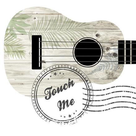 Monedero grande negro Guitarra touch me