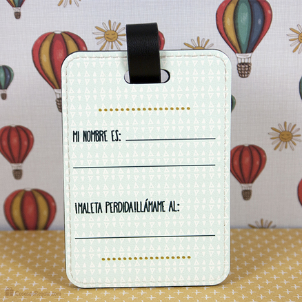 Etiqueta maleta polipiel Vámonos a hacer locuras