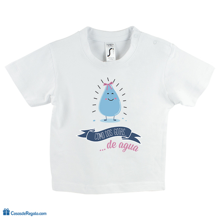Camiseta original Como dos gotas de agua niña