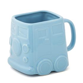 Mug Van 500 ml azul cerámica