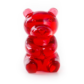 Soporte gafas Yummy Bear transparente rojo