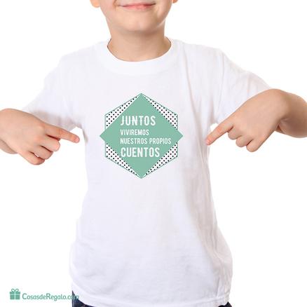 Camiseta original Juntos viviremos nuestros propios cuentos infantil