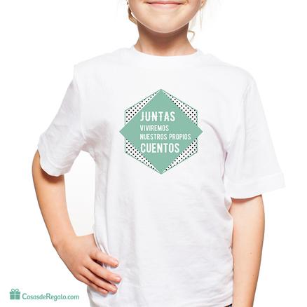 Camiseta original Juntas viviremos nuestros propios cuentos infantil