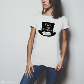 Camiseta original Eres mi persona mágica chistera para mujer