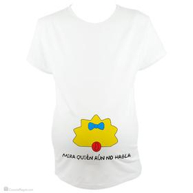 Camiseta original para embarazada Mira quién