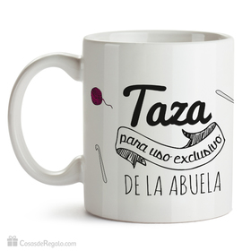 Taza original exclusivo para abuelas