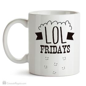 Taza original LOL Fridays