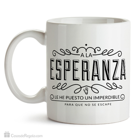 Taza original Esperanza con imperdible