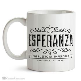 Taza original Esperanza con imperdible